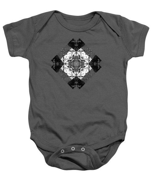 Pattern In Black White Baby Onesie