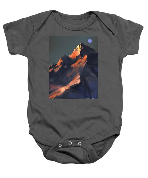 Baby Onesie featuring the painting Peak by Tithi Luadthong