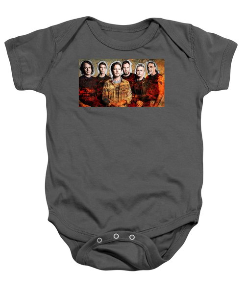 Baby Onesie featuring the mixed media Pearl Jam by Marvin Blaine