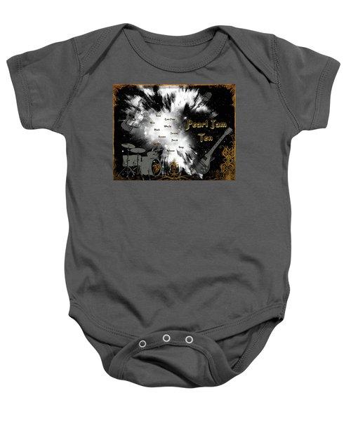 Pearl Jam Ten Baby Onesie by Michael Damiani