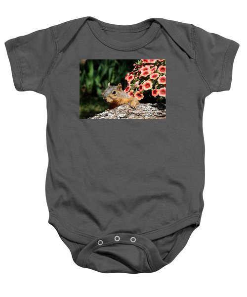Peek-a-boo Squirrel Baby Onesie
