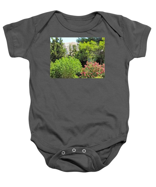 Peek Of The Parthenon Baby Onesie