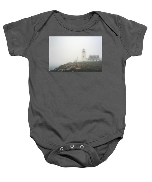 Pemaquid Point Lighthouse In Fog Baby Onesie