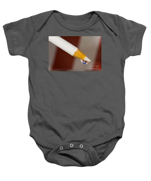 Pencil Flag Drop Baby Onesie
