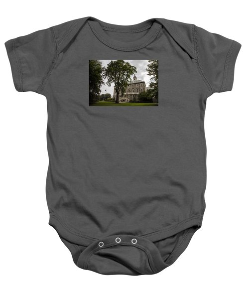 Penn State Old Main And Tree Baby Onesie by John McGraw