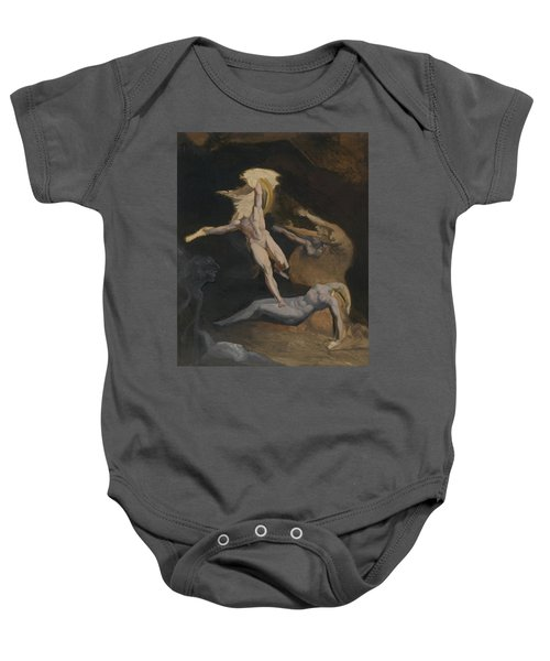 Perseus Slaying The Medusa Baby Onesie by Henry Fuseli