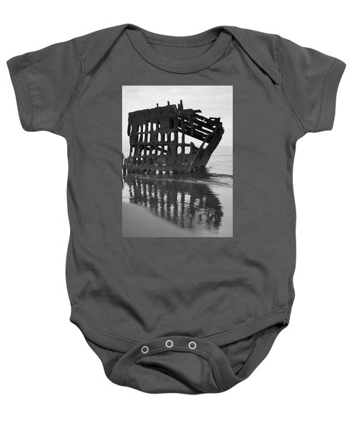 Peter Iredale Shipwreck In Black And White Baby Onesie
