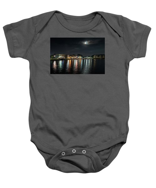 Pewaukee At Night Baby Onesie