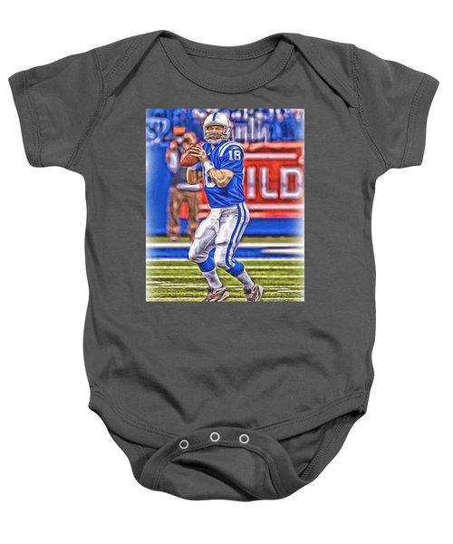 Peyton Manning Colts Oil Art Baby Onesie 0502a3c5f