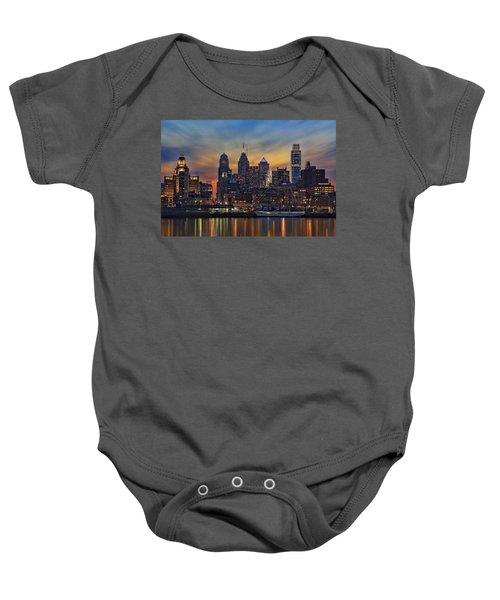 Philadelphia Skyline Baby Onesie