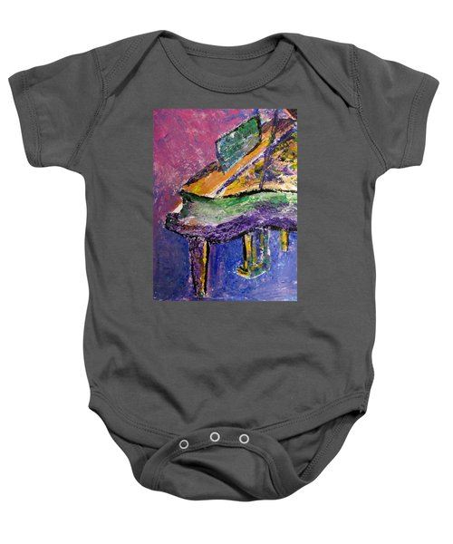 Piano Purple - Cropped Baby Onesie