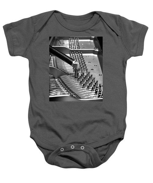 Piano Tuning Bw Baby Onesie