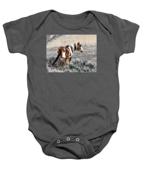 Picasso - Wild Mustang Stallion Of Sand Wash Basin Baby Onesie