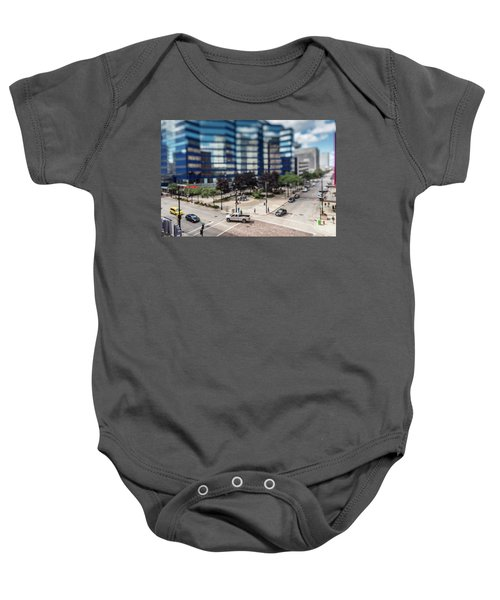 Pick-up Truck In The Itty-bitty-city Baby Onesie