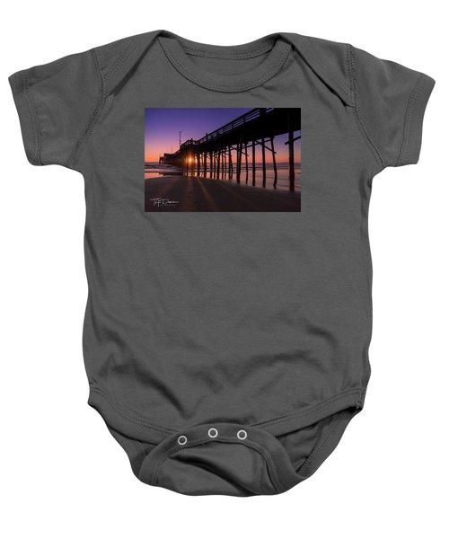 Pier In Purple Baby Onesie