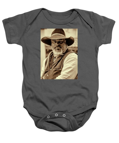 Piercing Eyes Of The Cowboy Baby Onesie
