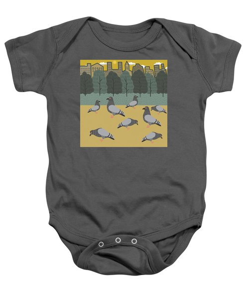 Pigeons Day Out Baby Onesie by Nicole Wilson