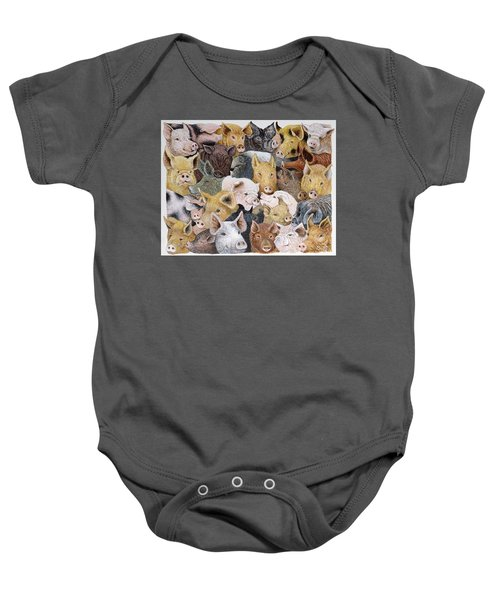 Pigs Galore Baby Onesie