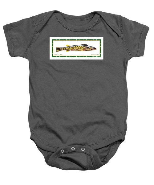 Pike Ice Fishing Decoy Baby Onesie