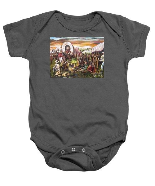 American    History  Pilgrims On The Plain Baby Onesie