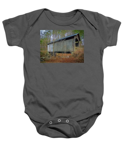 Pine Brook Bridge Baby Onesie