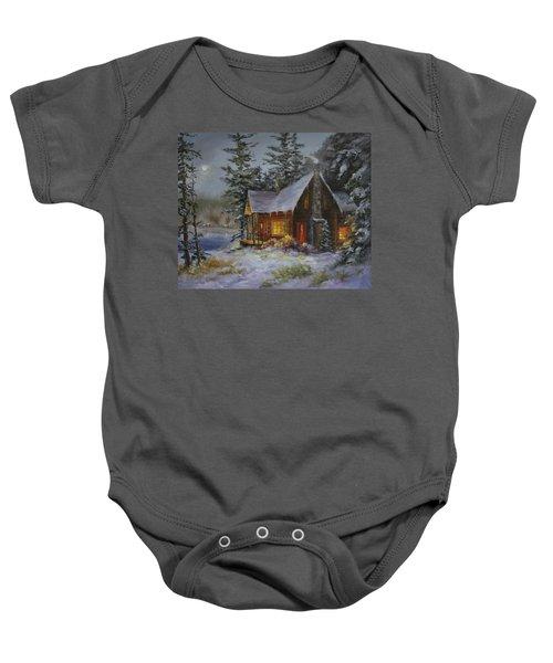 Pine Cove Cabin Baby Onesie