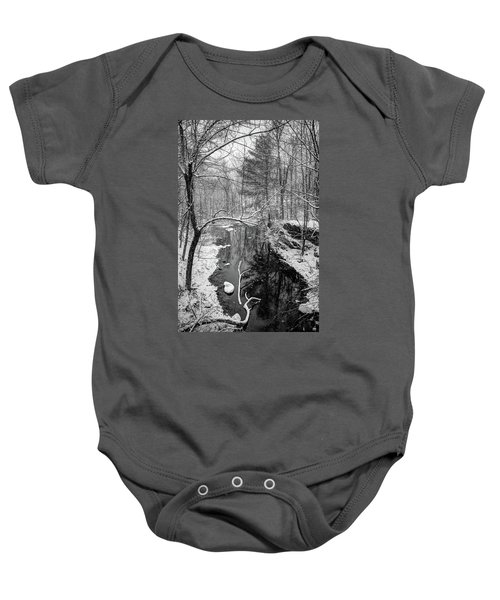 Pine Reflection On The Sheepscot Baby Onesie