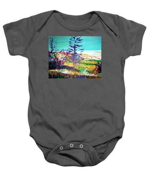 Pine Tree Pandanus Baby Onesie by Winsome Gunning
