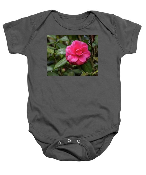 Pink Camelia 02 Baby Onesie