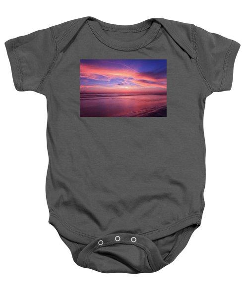 Pink Sky And Ocean Baby Onesie