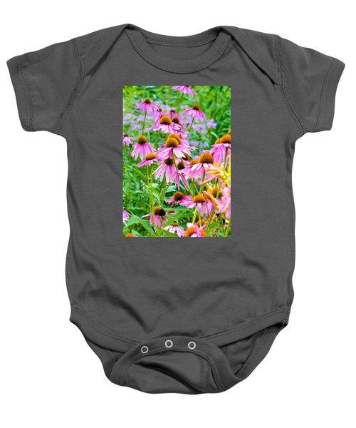 Pink Coneflower Baby Onesie