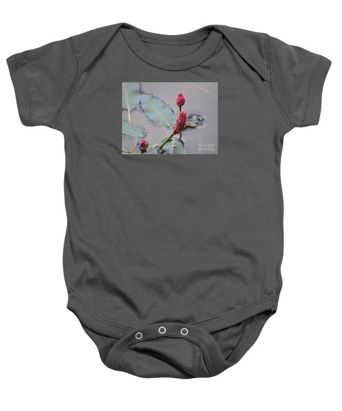 Pink Lily Pad Baby Onesie