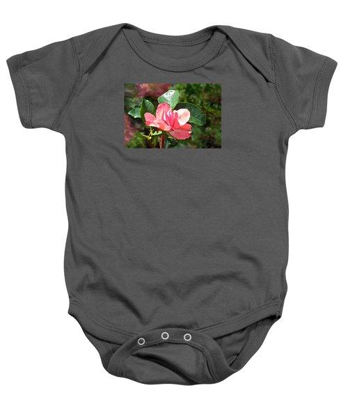 Pink Roses In The Rain 2 Baby Onesie