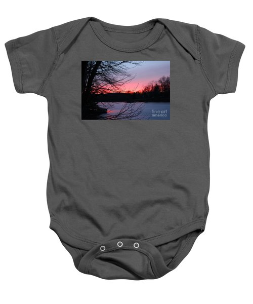 Pink Sky At Night Baby Onesie