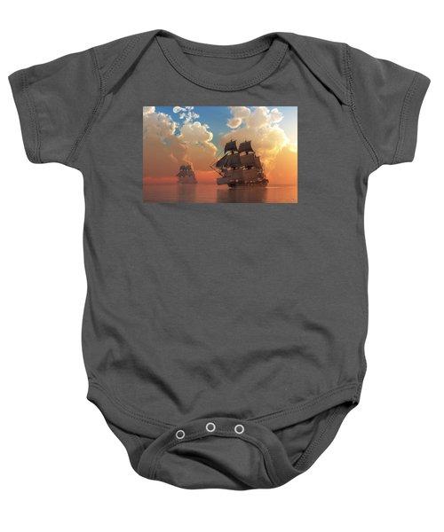 Pirate Sunset Baby Onesie