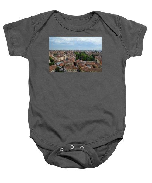 Pisa From Above Baby Onesie