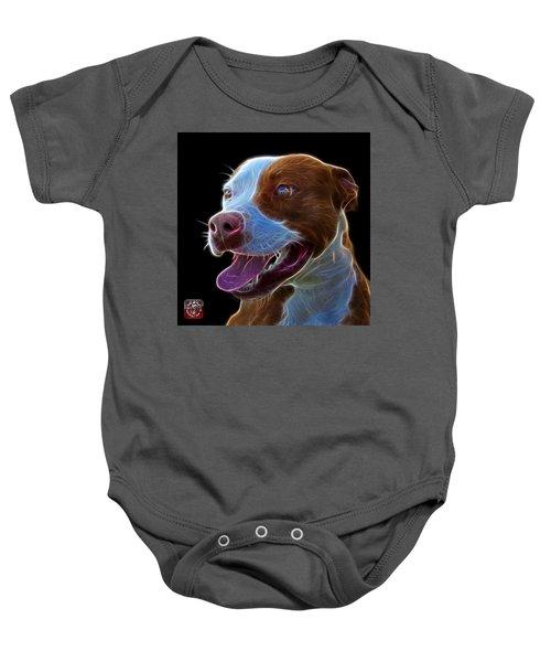 Pit Bull Fractal Pop Art - 7773 - F - Bb Baby Onesie