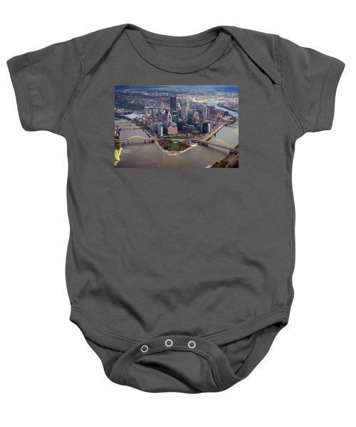 Pittsburgh 8 In Color  Baby Onesie