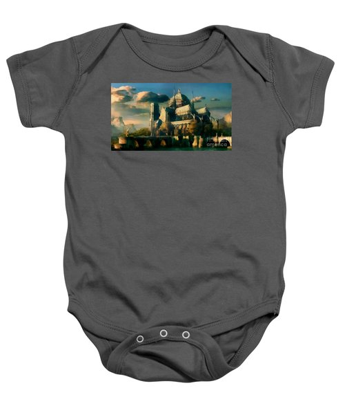 Places Angels Dwell Painted In Bleak Baby Onesie