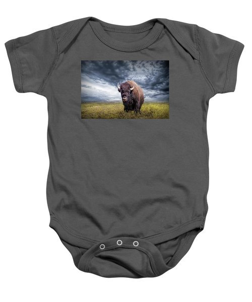 Plains Buffalo On The Prairie Baby Onesie