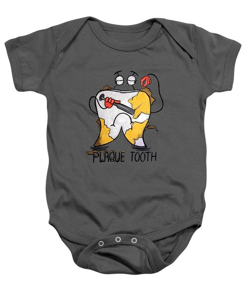Plaque Tooth T-shirt Baby Onesie