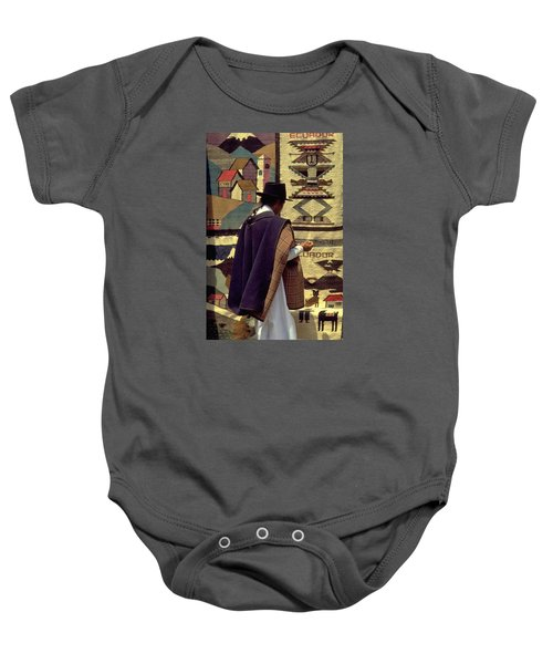 Baby Onesie featuring the photograph Plaza De Ponchos by Travel Pics