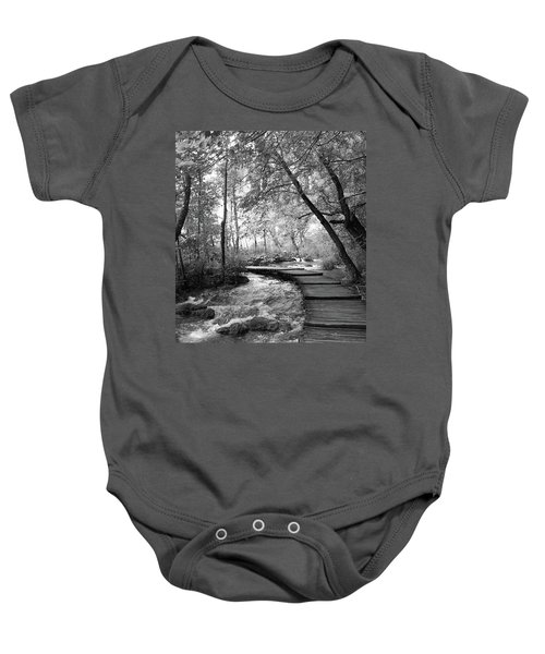 Plitvice In Black And White Baby Onesie