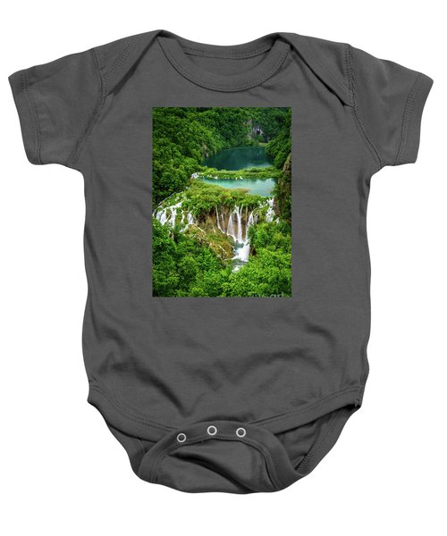 Plitvice Lakes National Park - A Heavenly Crystal Clear Waterfall Vista, Croatia Baby Onesie