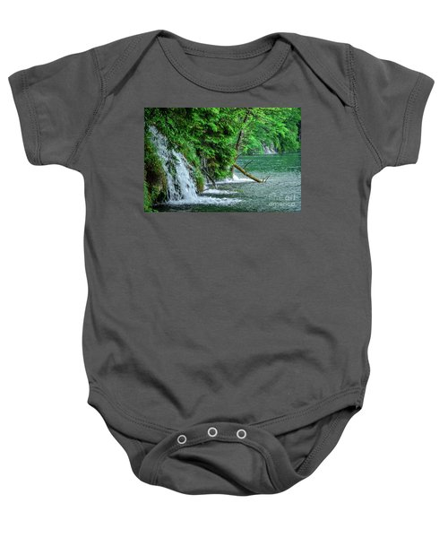 Plitvice Lakes National Park, Croatia - The Intersection Of Upper And Lower Lakes Baby Onesie
