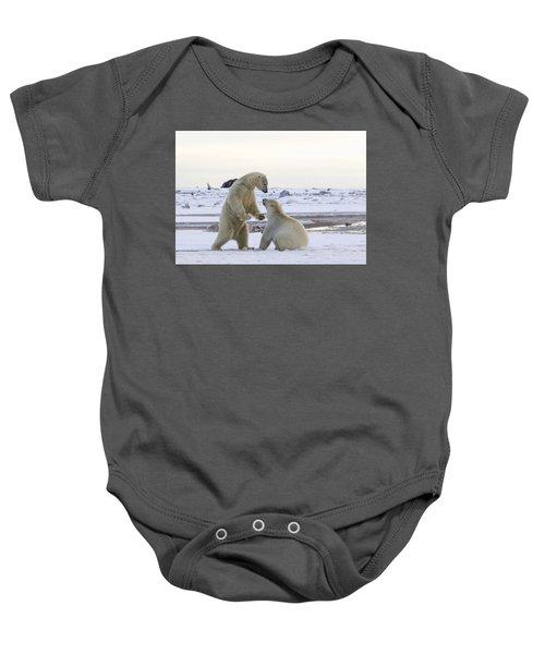 Polar Bear Play-fighting Baby Onesie