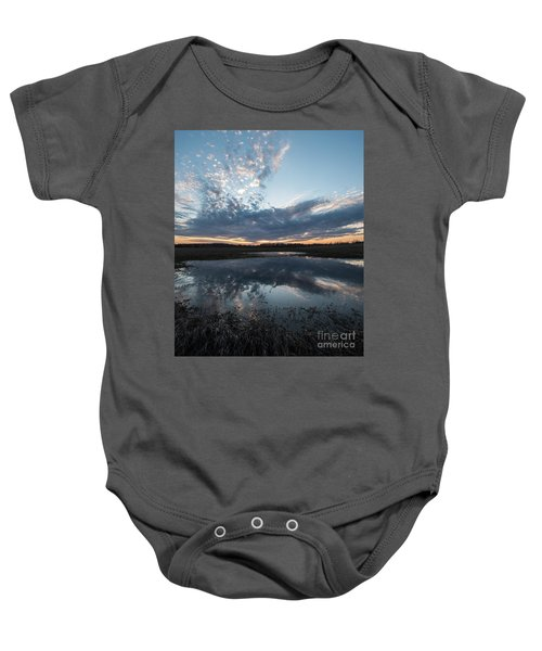 Pond And Sky Reflection3a Baby Onesie