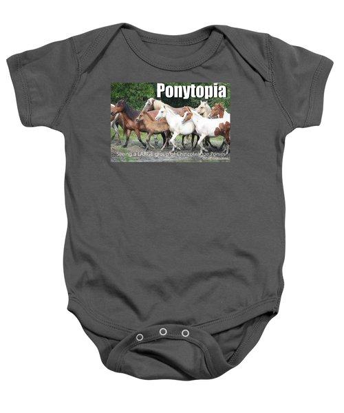 Ponytopia Saying Baby Onesie