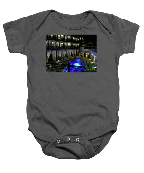 Poolside At The Pearl Baby Onesie by Megan Cohen