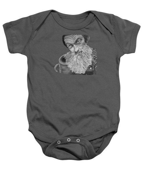 Popcorn Sutton Black And White Transparent - T-shirts Baby Onesie